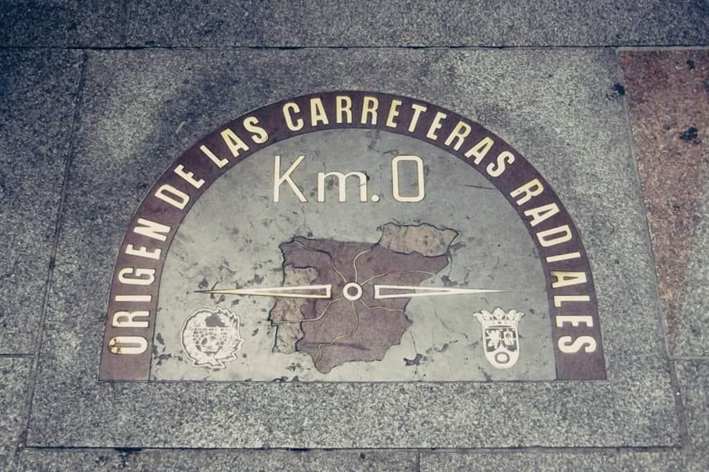La famosa puerta del Sol. El lugar más centrico de Madrid