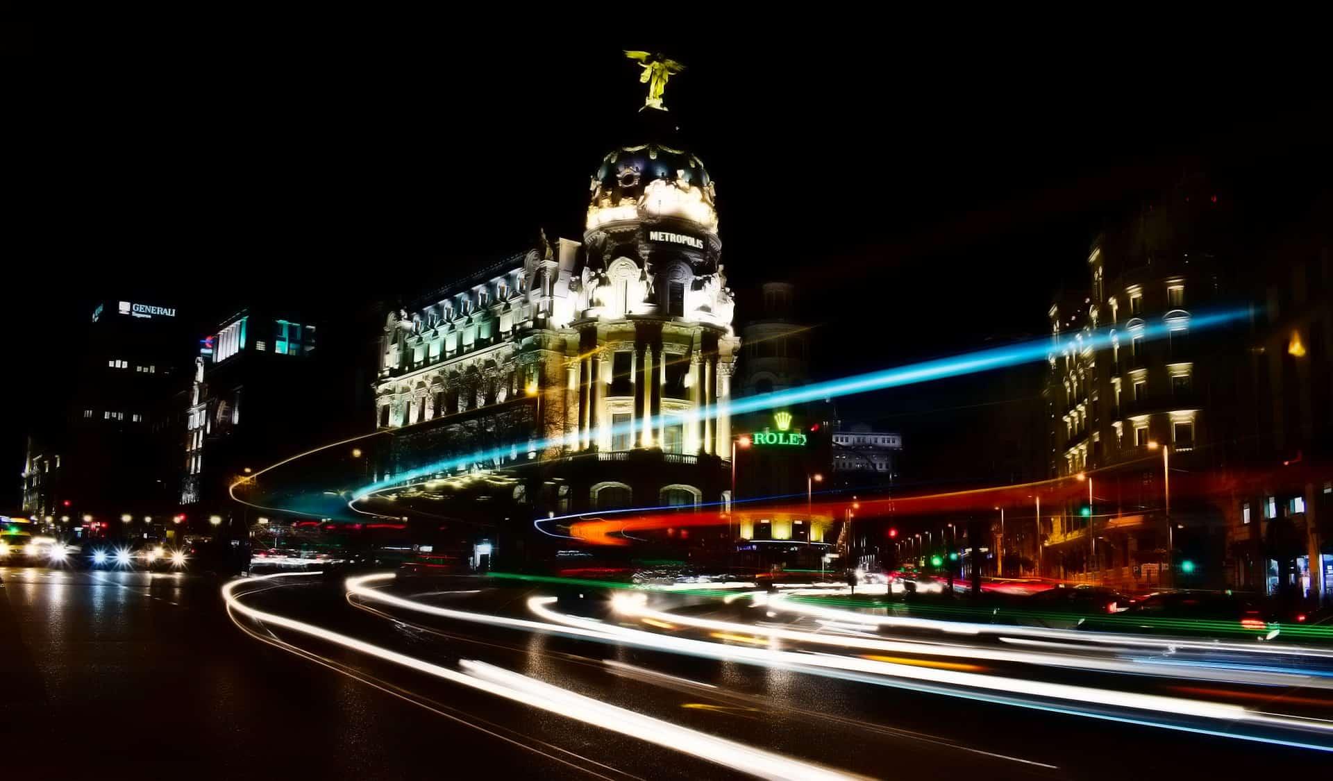 La magia que vive Madrid de noche